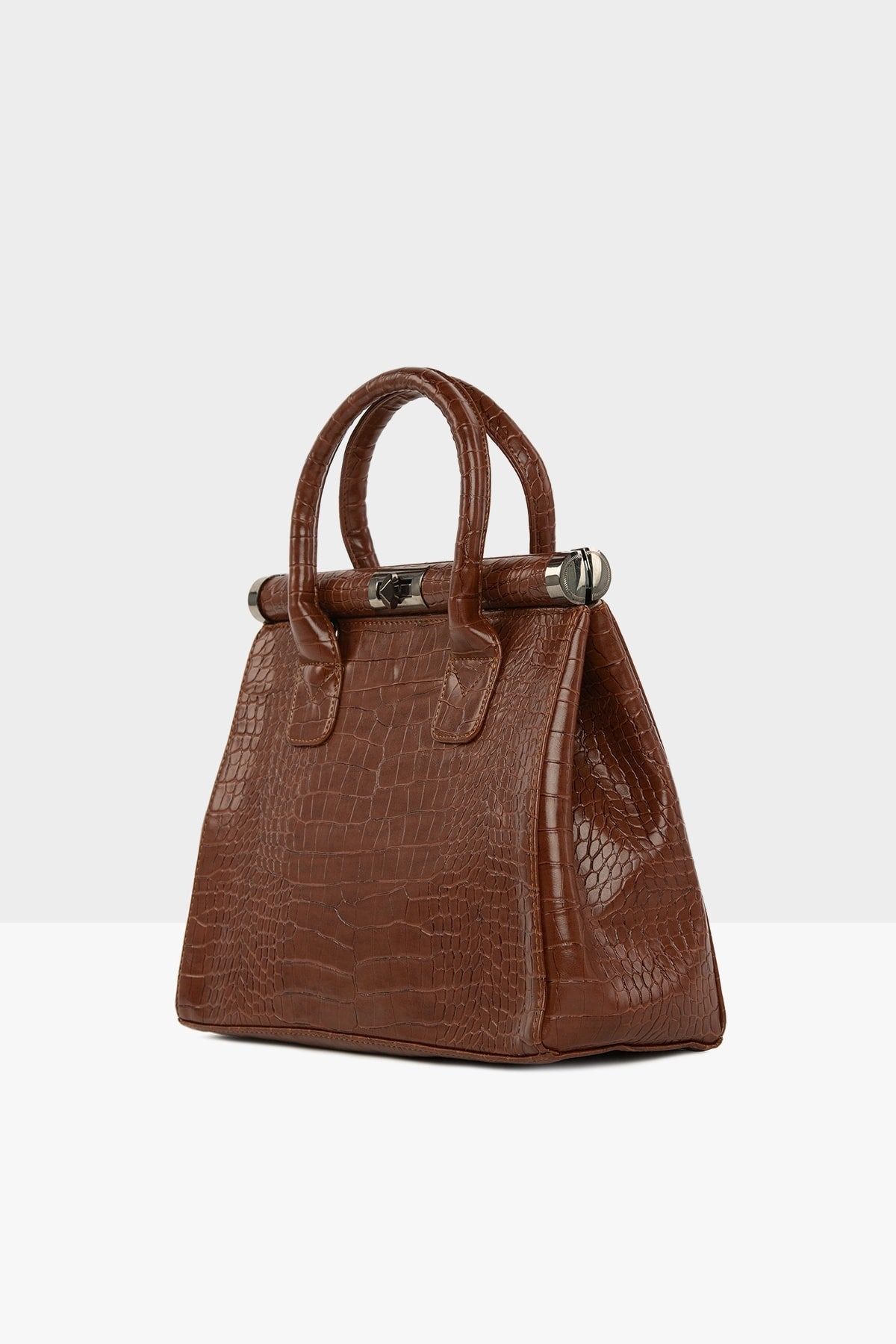 Sac a main classic marron croco