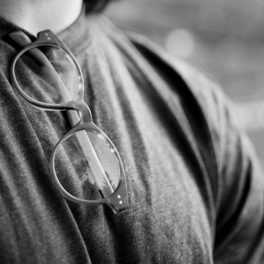 Arco Cotton-Based Acetate Eco Glasses with Prescription-Ready Clear Lenses
