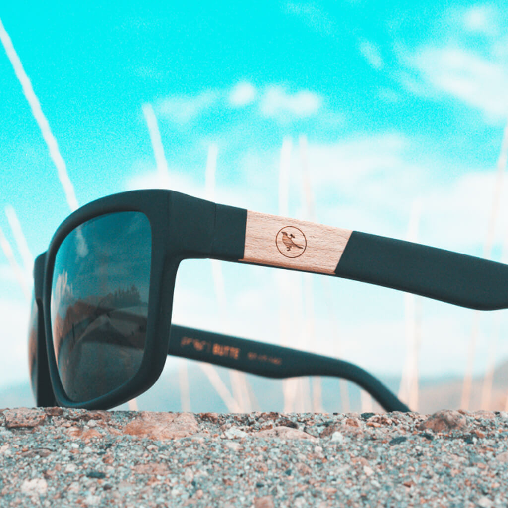 Butte Cotton-Based Acetate Eco Sunglasses with Polarized Lenses
