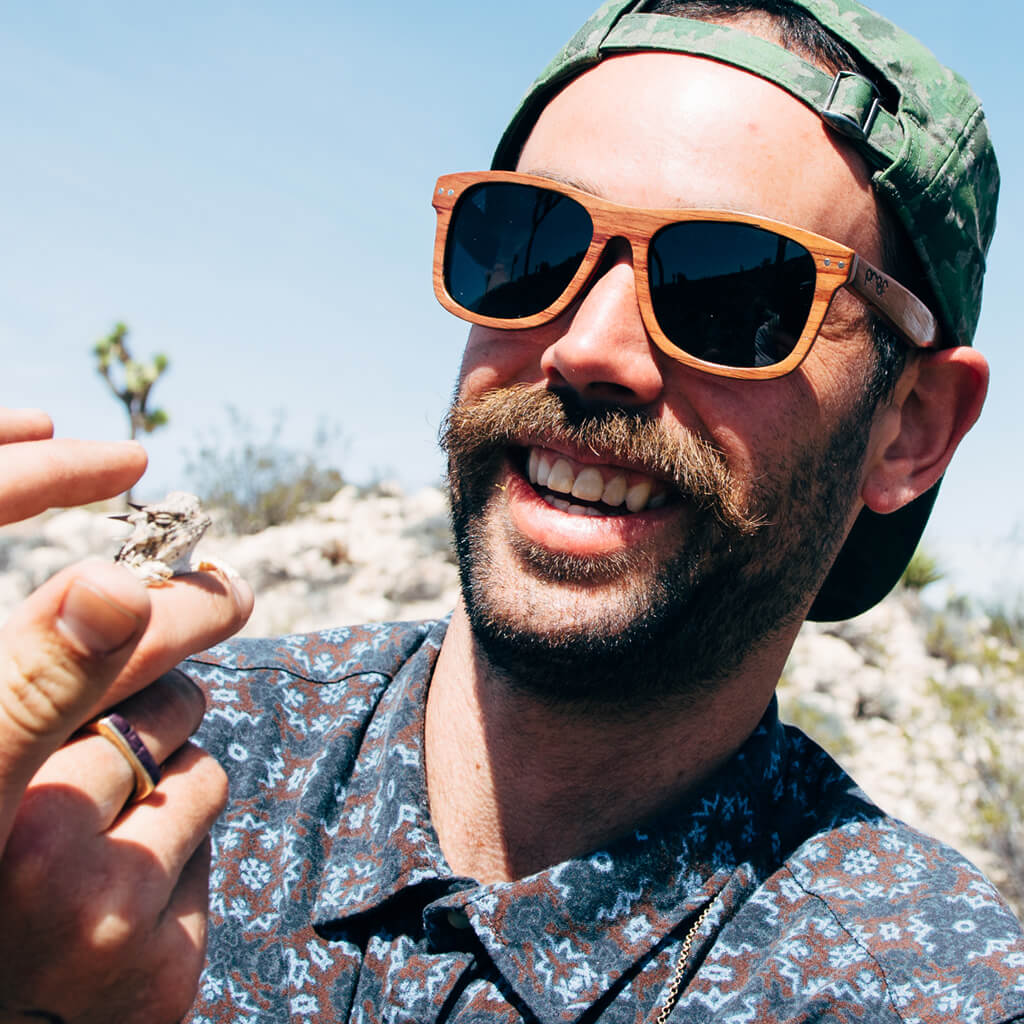 Ontario FSC-Certified Sustainable Skateboard Wood Glasses with Polarized Lenses
