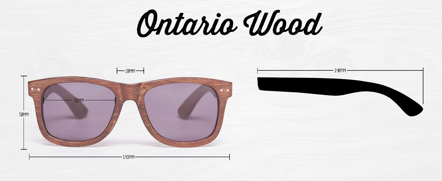 1d21a10ba9 Proof Ontario Stained Bamboo Grey Wooden Sunglasses