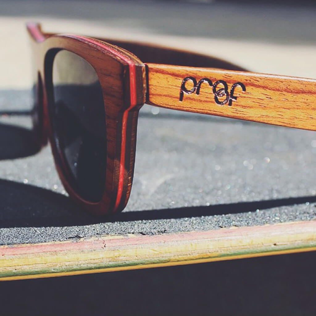 Payette FSC-Certified Sustainable Skateboard Wood Glasses with Polarized Lenses