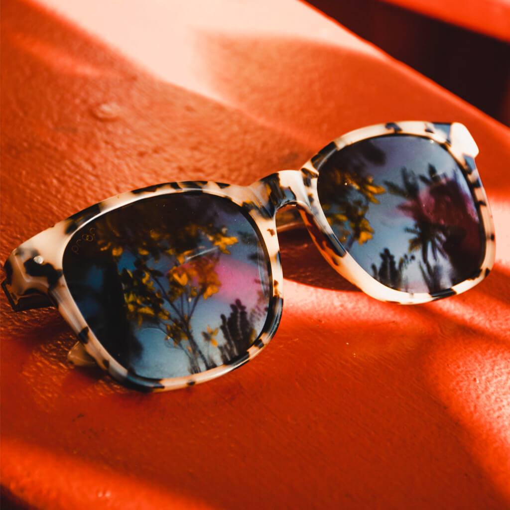 Scout Cotton-Based Acetate Eco Sunglasses with Polarized Lenses