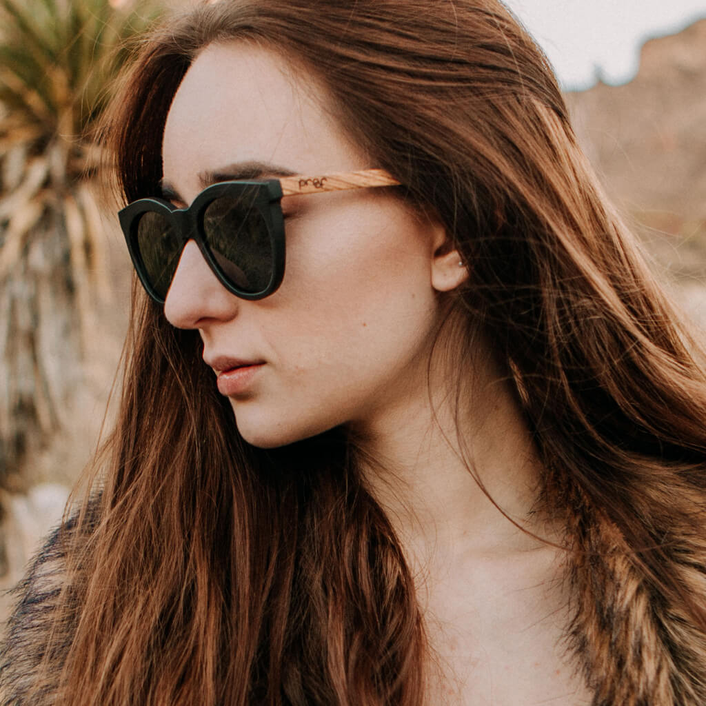 State FSC-Certified Sustainable Wood Sunglasses with Polarized Lenses