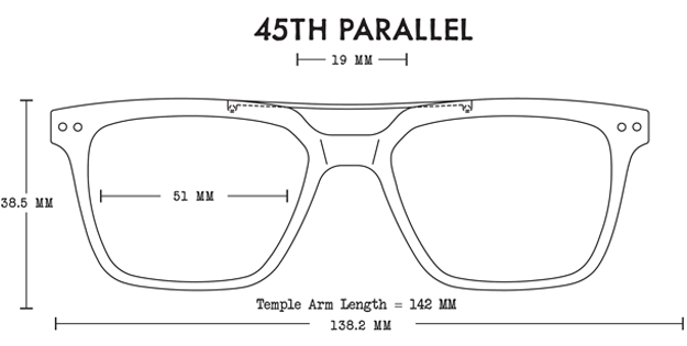 45th Parallel Acetate Fit Guide