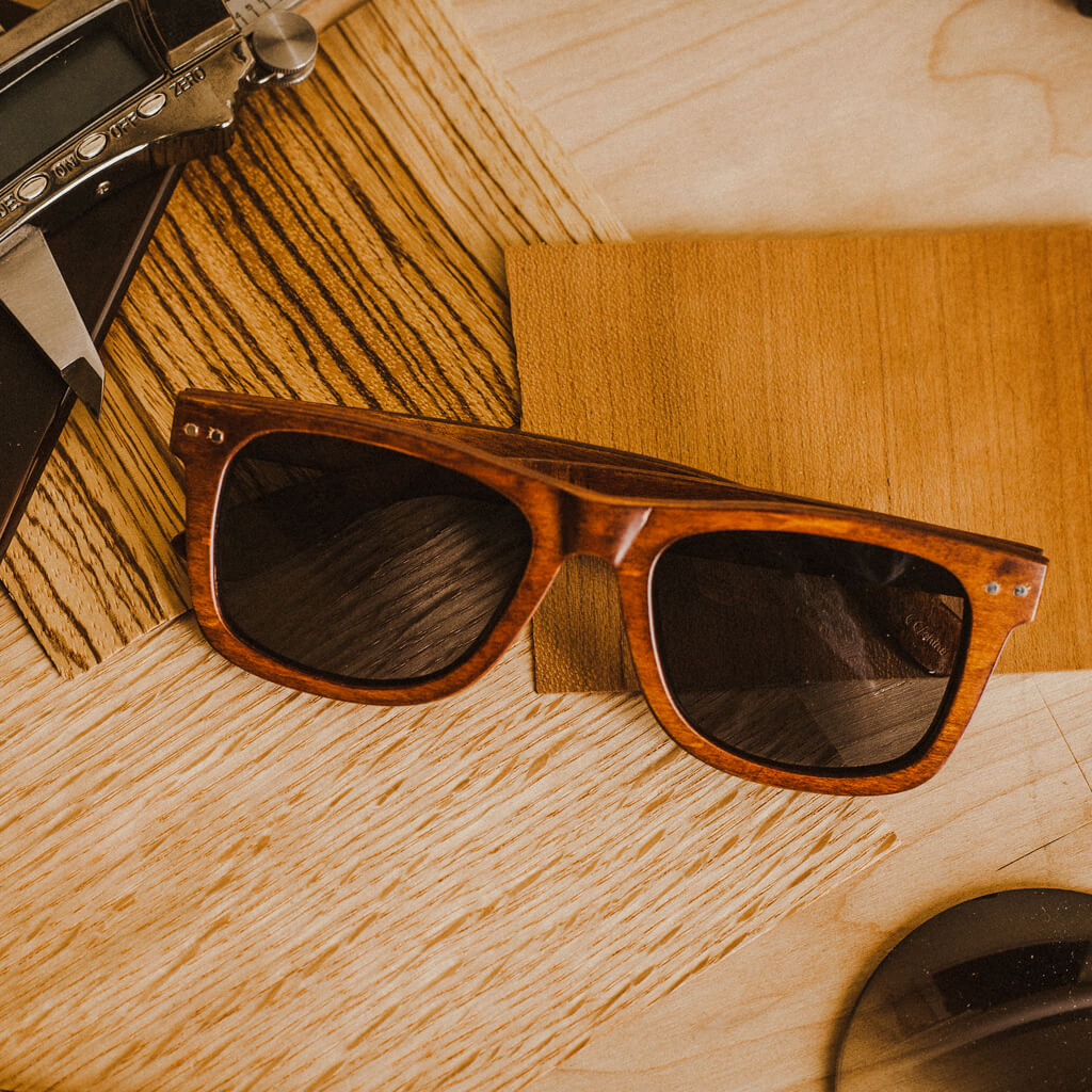 Ontario FSC-Certified Sustainable Wood Sunglasses with Polarized Lenses