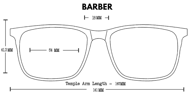 Barber Acetate Rx Optical Fit Guide