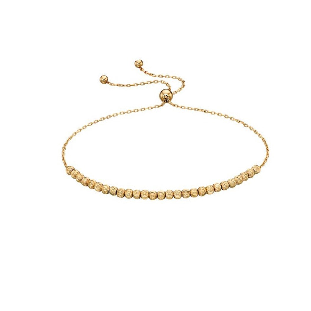 9ct Yellow Gold Diamond Cut Bracelet