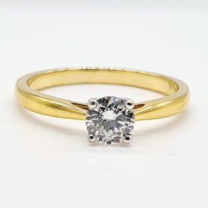 18ct Yellow Gold Brilliant Cut Diamond Ring (0.50ct)
