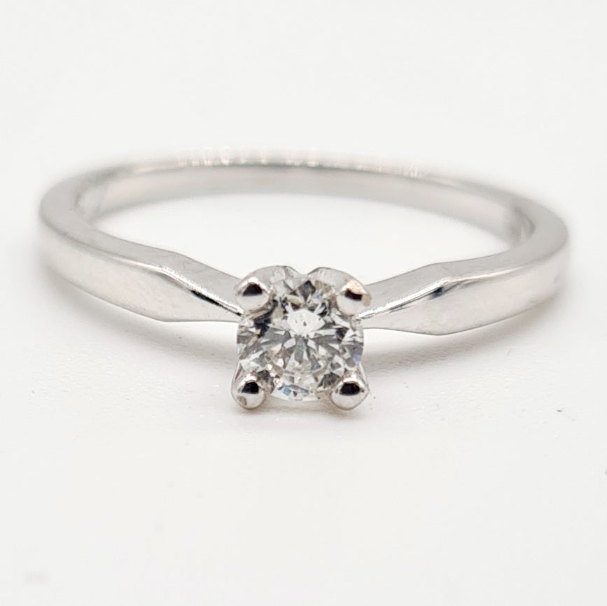 18ct White Gold Brilliant Cut Diamond Ring (0.25ct)