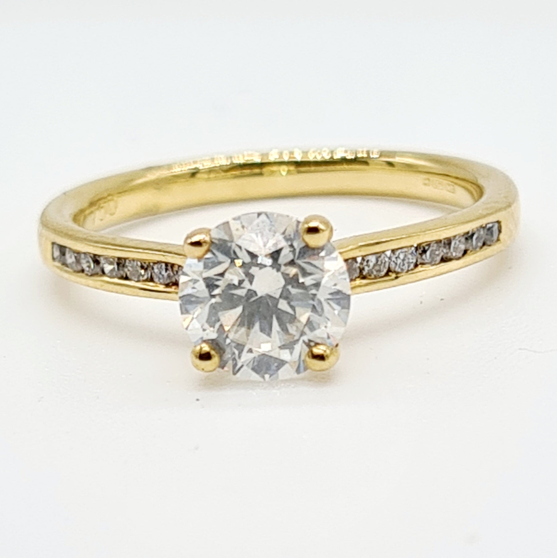 18ct Yellow Gold Diamond Ring (1.10ct + 0.12ct)