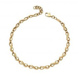 Yellow Gold Infinity Tennis Bracelet