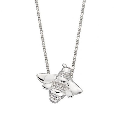 Silver Bee Pendant and Chain