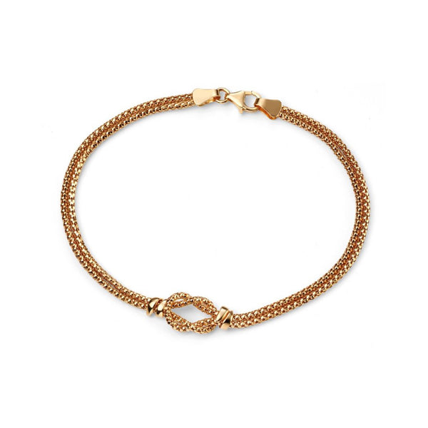 9ct Yellow Gold Double Strand Knot Bracelet