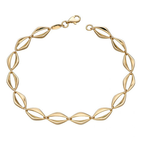 Open Eye Link 9ct Gold Bracelet