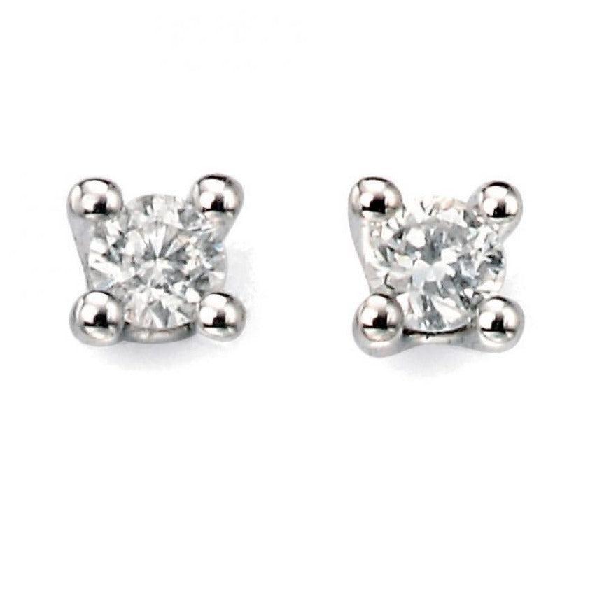 9ct White Gold 0.15ct Diamond Stud Earrings