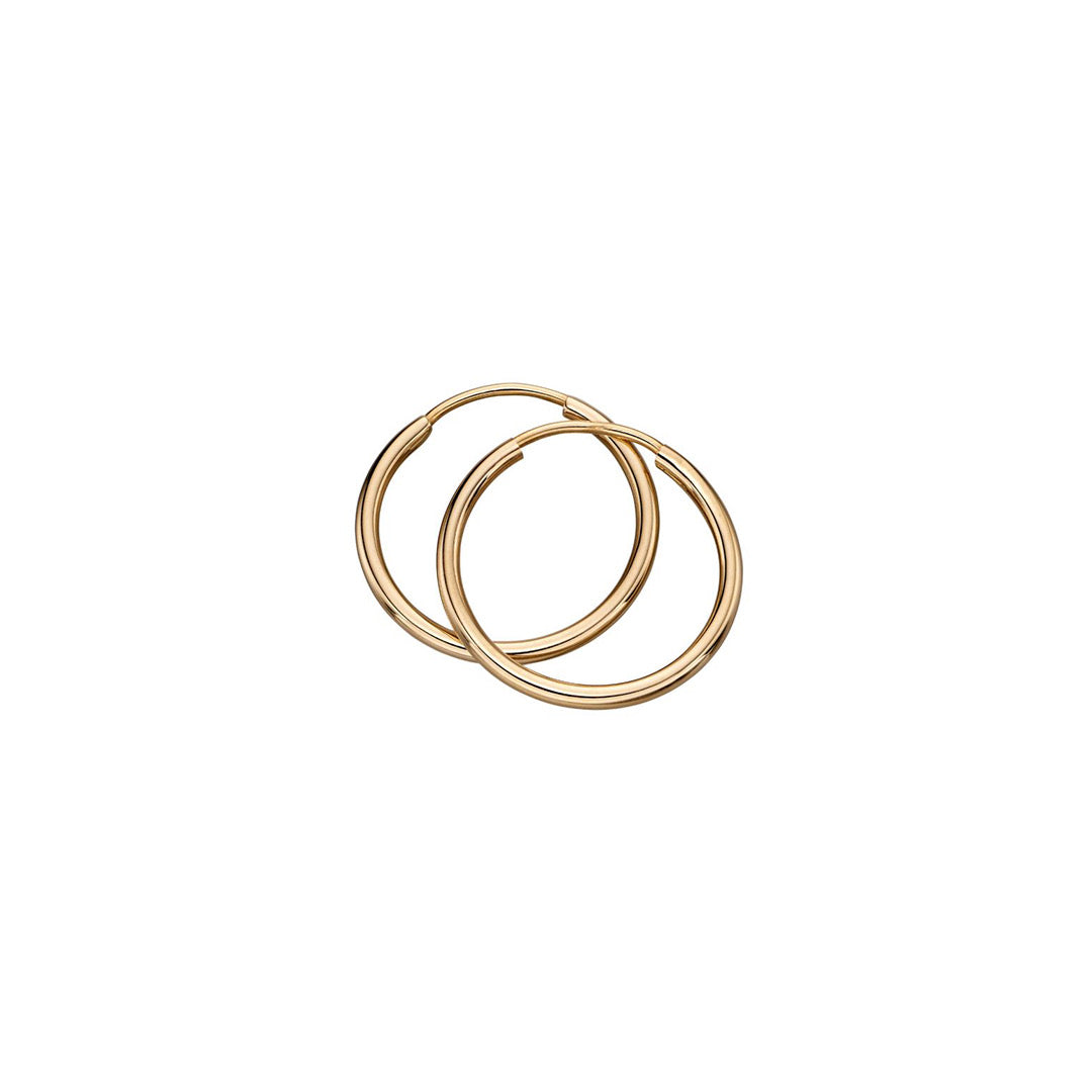 9ct Yellow Gold Sleeper Hoop Earrings
