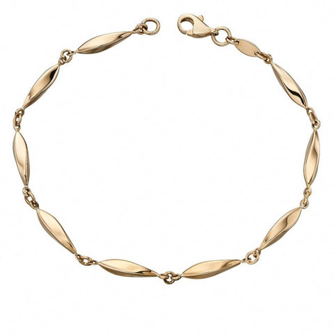 9ct Yellow Gold Marquise Bracelet