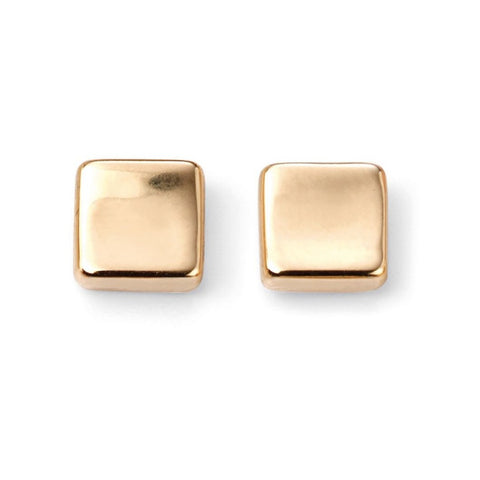 9ct Yellow Gold Square Stud Earrings