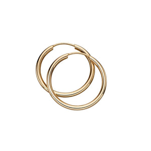 9ct Yellow Gold 20mm Sleeper Hoops
