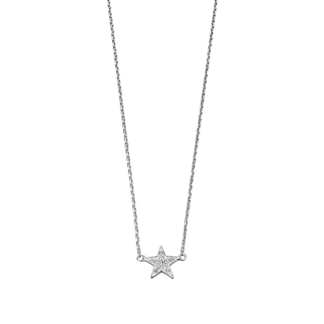 Silver Cubic Zirconia Star Necklace
