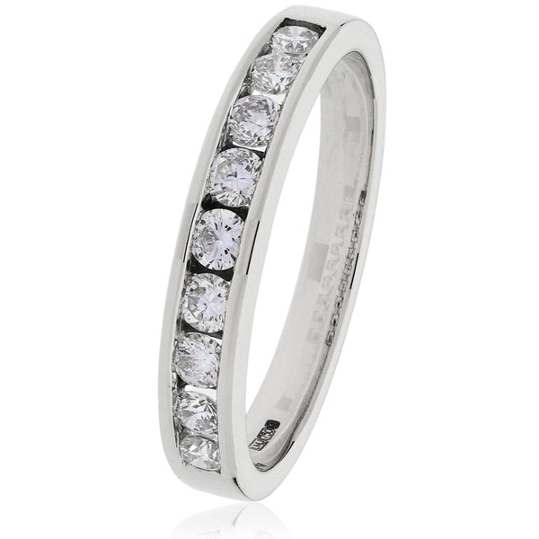 18ct Gold Brilliant Cut Diamond Half Eternity Ring (0.25ct) Available In White Gold & Yellow Gold