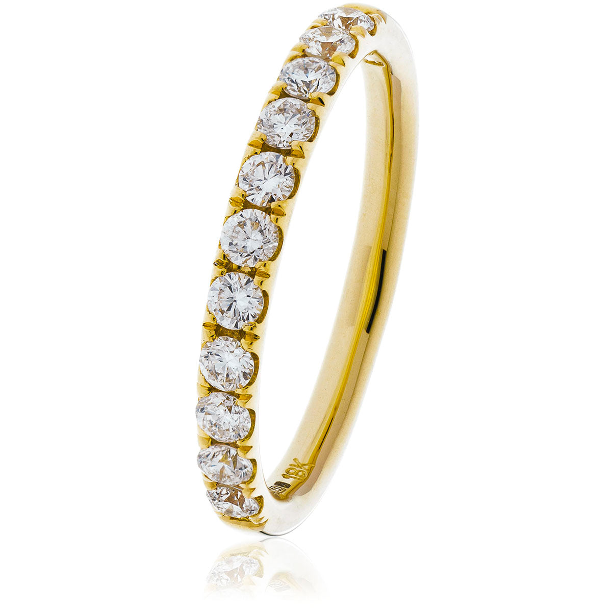 18ct Gold Brilliant Cut Diamond Half Eternity Ring (0.40ct) Available In White Gold & Yellow Gold