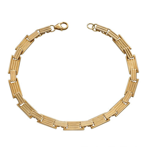 9ct Yellow Gold Rectangle Bracelet