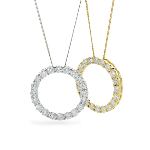 18ct Gold Circle Of Life Pendant & Chain (0.25ct - 1.00ct) Available In White Gold & Yellow Gold