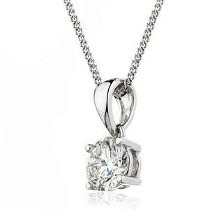 18ct Gold Brilliant Cut Diamond Solitaire Pendant & Chain (0.25ct - 1.00ct) Available In White Gold & Yellow Gold