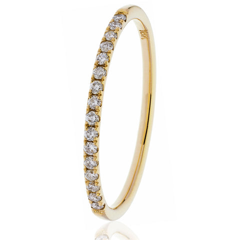 18ct Gold Brilliant Cut Diamond Half Eternity Ring (0.20ct) Available In White Gold & Yellow Gold