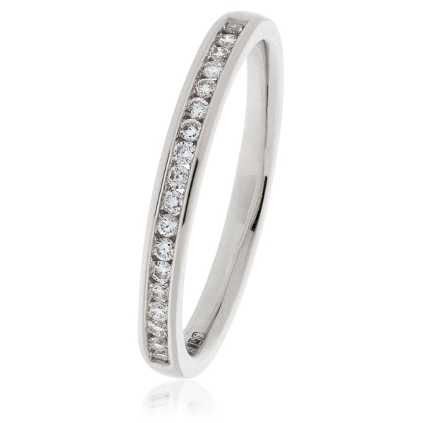 18ct Gold Brilliant Cut Diamond Half Eternity Ring (0.15ct) Available In White Gold & Yellow Gold