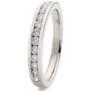 Platinum Half Eternity Ring 0.40ct