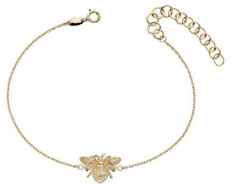 9ct Yellow Gold Bee Bracelet