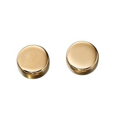 9ct Yellow Gold Round Disc Earrings