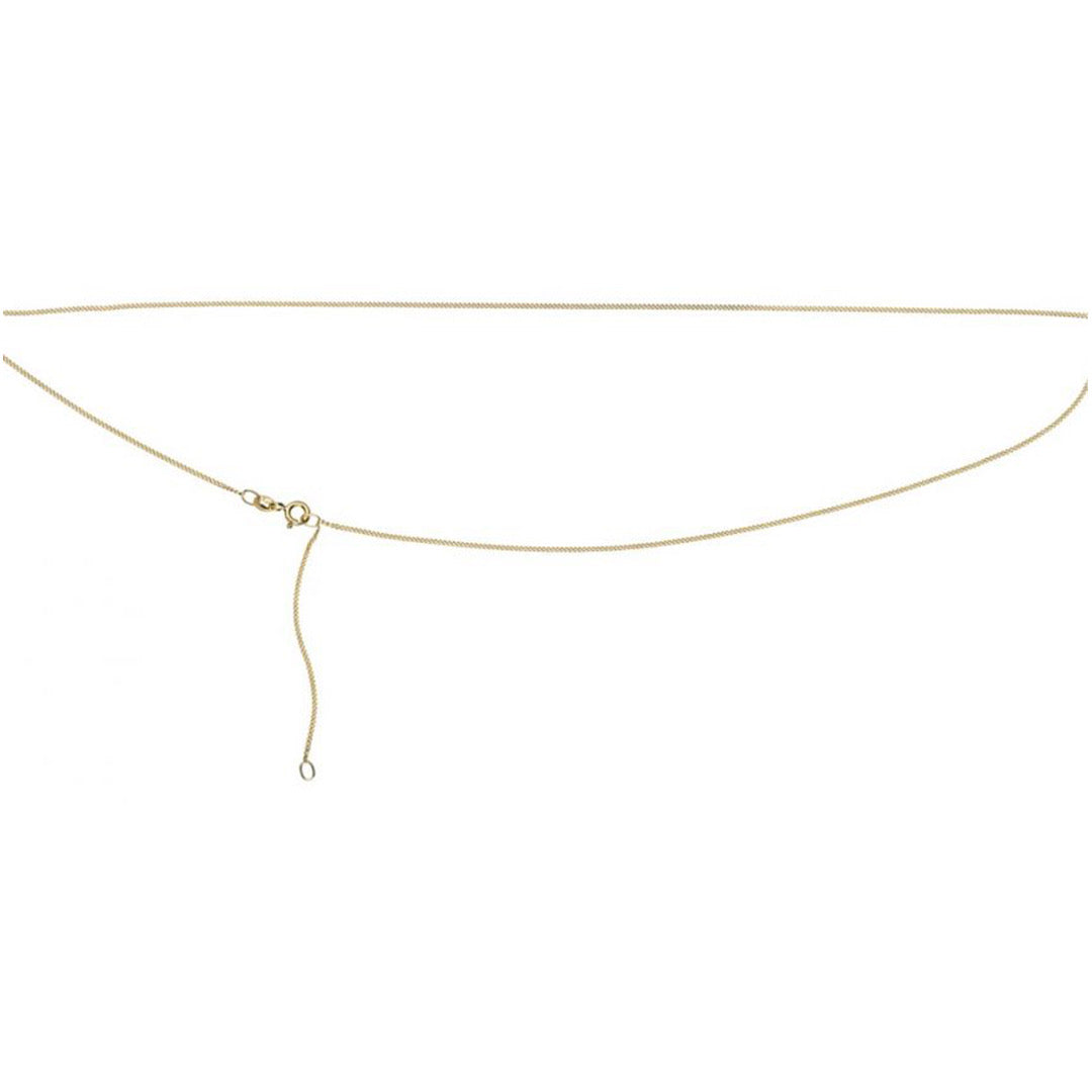 9ct Yellow Gold Cut Curb Chain 18-20''