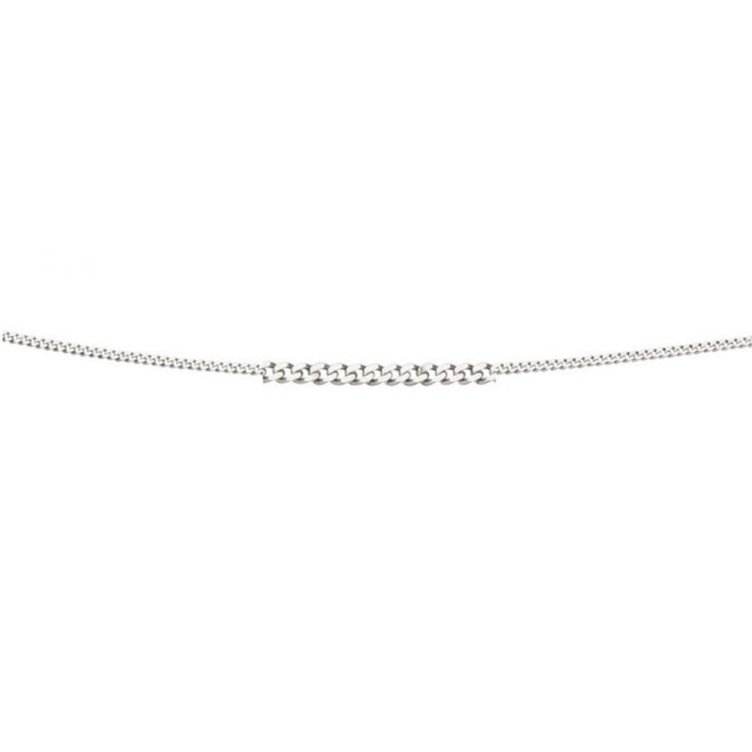 9ct White Gold Curb Lightweight Chain