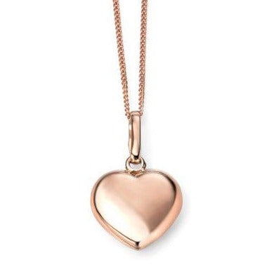 9ct Rose Gold Pendant With Chain
