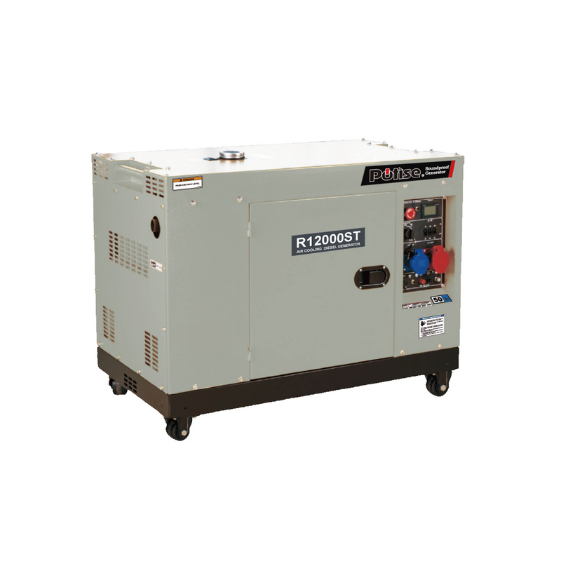 R12000ST-AU, 10.5kVA Portable Diesel Generator 240V, 1 Phase: Powered by OEM Engine
