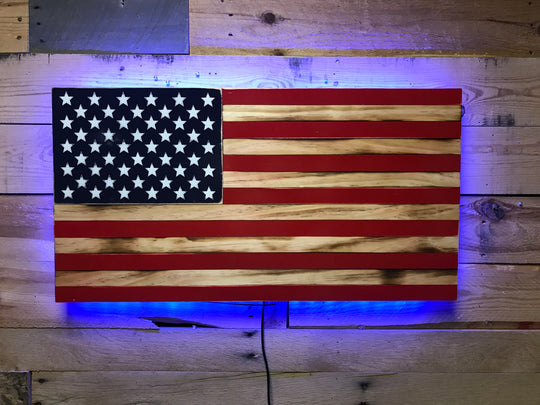 HAND CRAFTED WOOD FLAGS