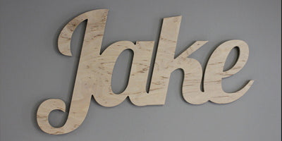 Custom Natural Wood Childeren Name Cutouts
