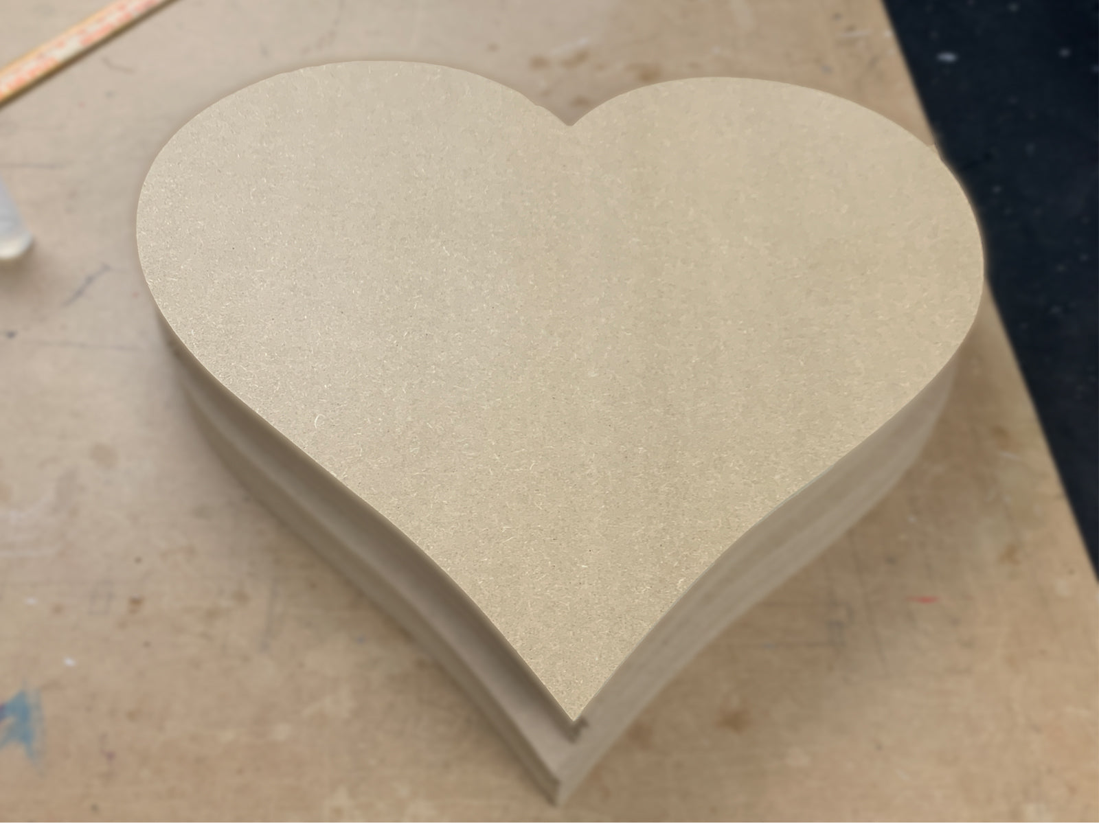 "Wooden Heart Shapes - 1/2"" Thick"