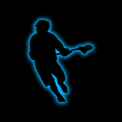 Men's Lacrosse Player Silhouette - Lacrosse Wall Art