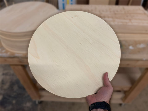 "Wooden Circle Shapes - 1/2"" Thick"