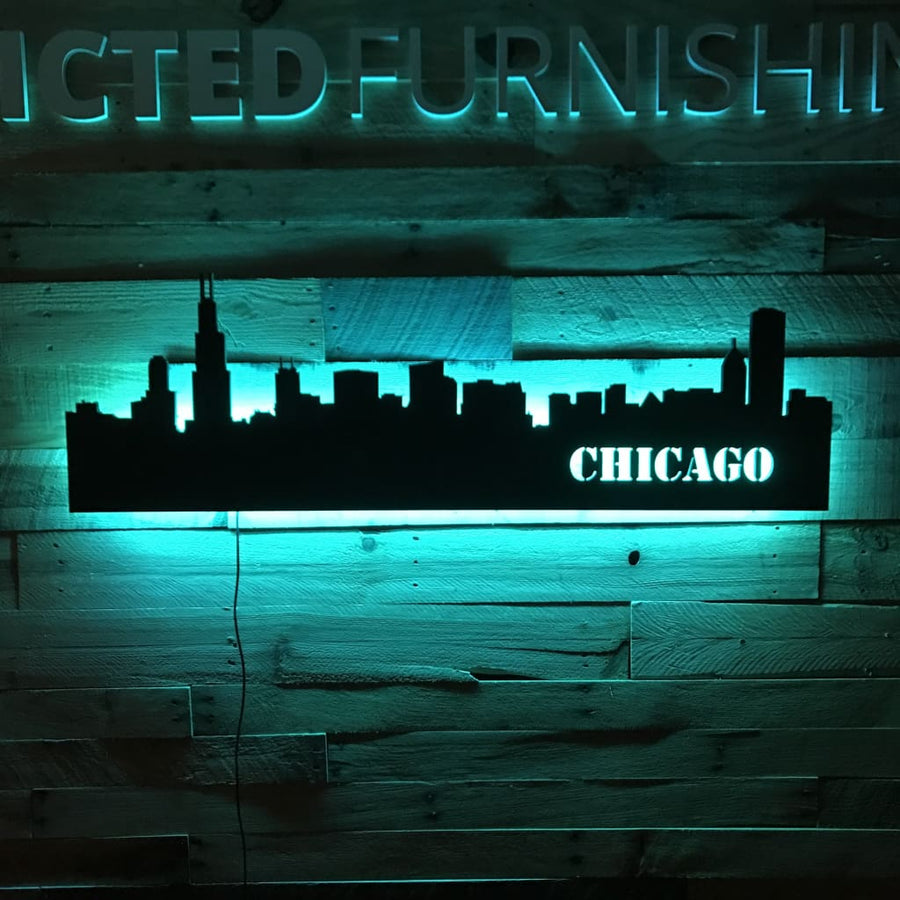 Lighting Chicago Il: Illuminated City Skyline Design