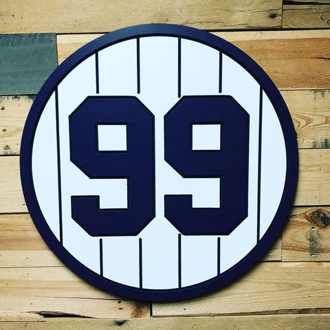 Customized Nyy Retired Plaque