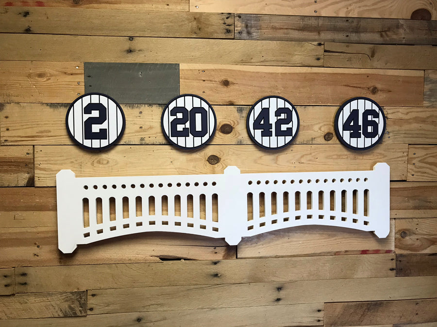 NYY Fan Set: Four Plaques + LED Facade Combo