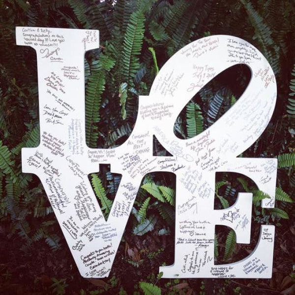 Love Park Wedding Guest Book
