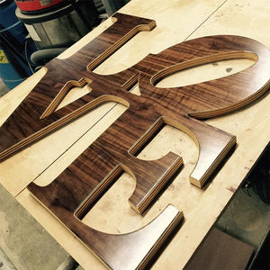 Love Park - Woodgrain - Wall Decor