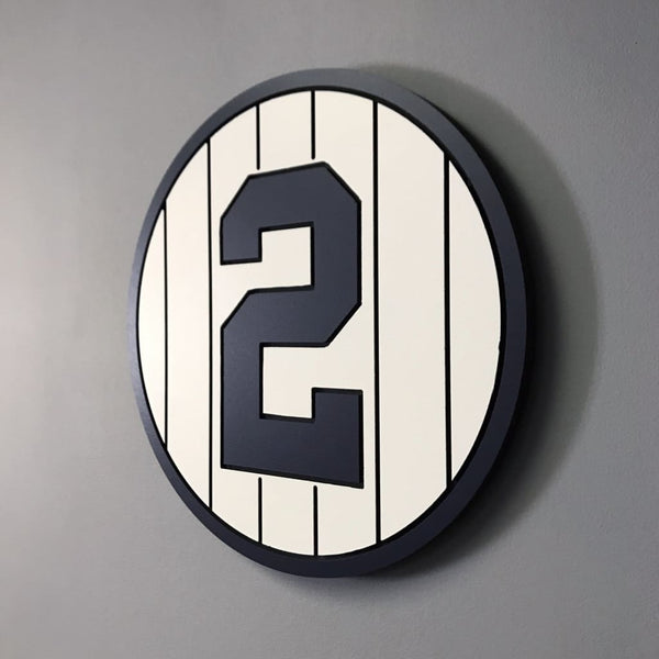 New York Yankees Retired Baseball Plaques